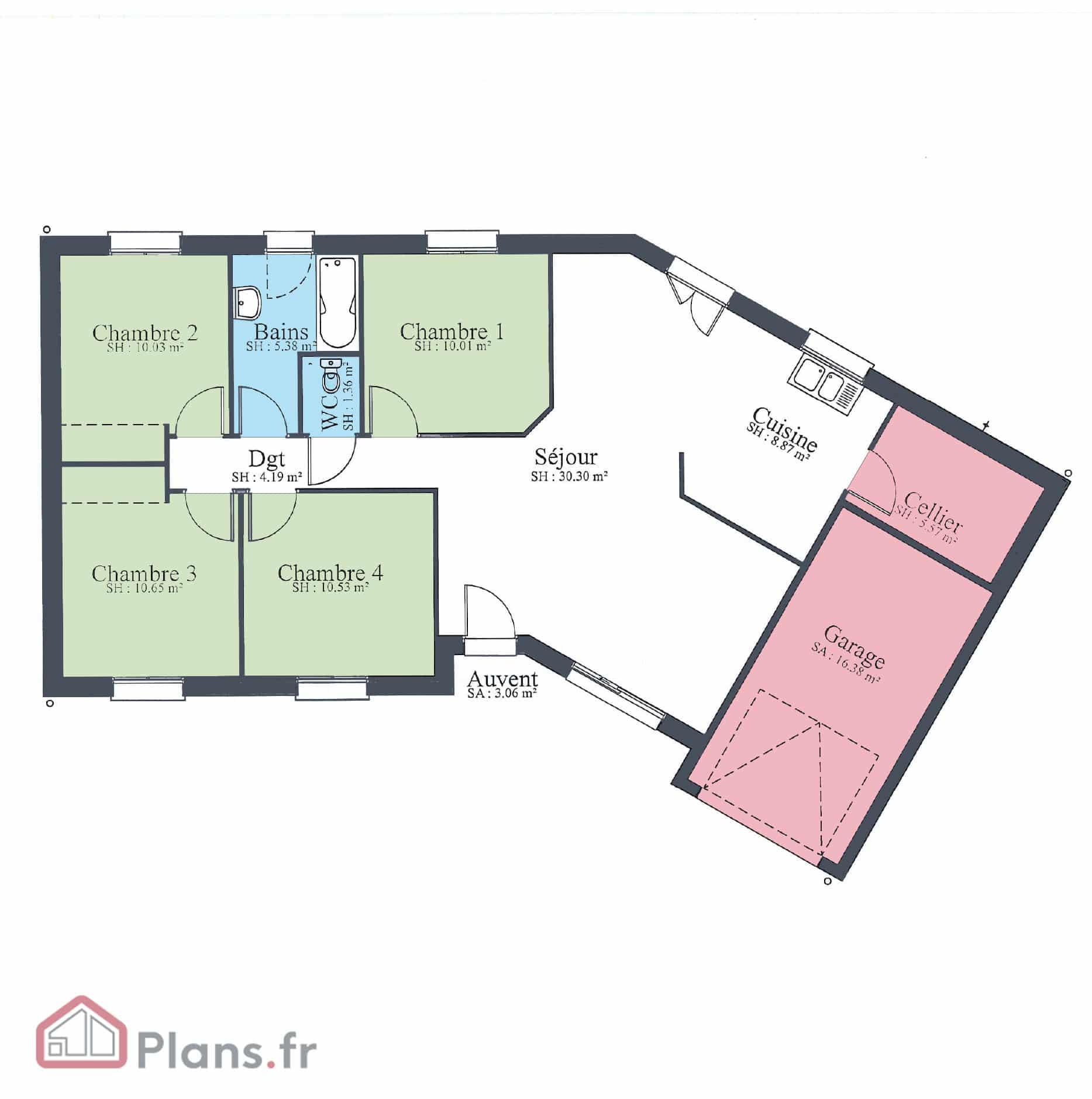 Design V Maison Traditionnelle De Plain Pied