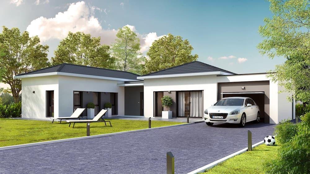 Harmonie -Maison contemporaine de plain-pied - Plans.fr : 1er site de plans et modèles de maisons