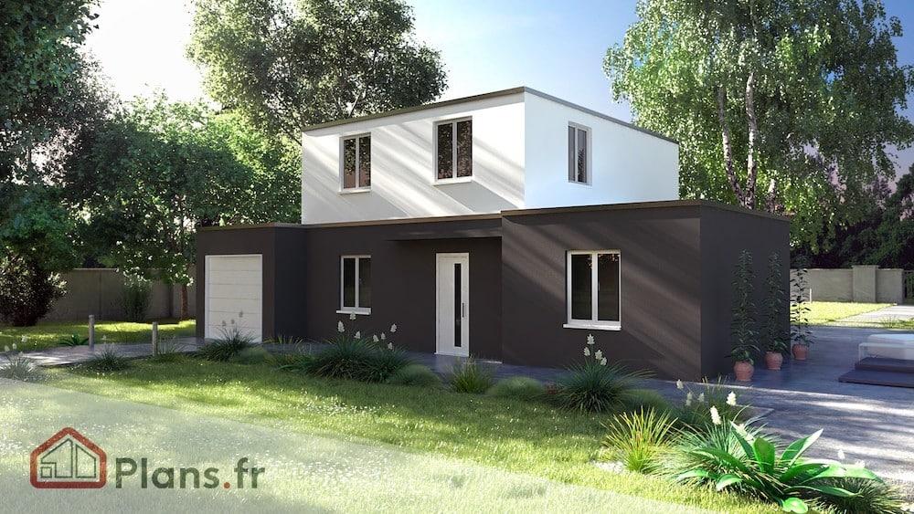 Tentation cosy maison contemporaine de plain pied for Maison modulaire contemporaine