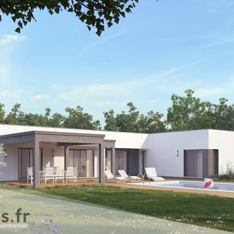 plan maison de 200 m2. Black Bedroom Furniture Sets. Home Design Ideas