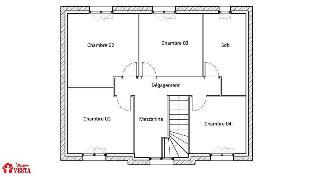 Plan maison - Maison traditionnelle - Modèle Bahamas