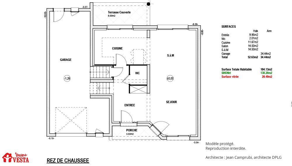 Plan Maison Maison Contemporaine Modele Come