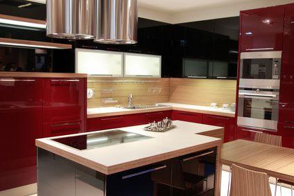 Le rouge, couleur tendance pour la cuisine