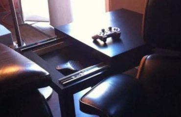 Une table basse avec rangements faîte maison