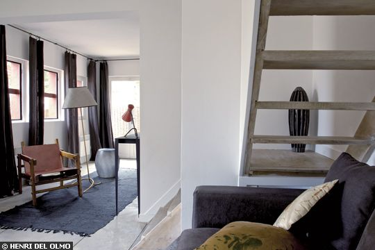 espace détente sous les escaliers