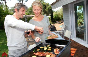 cuisine d'été dans son jardin