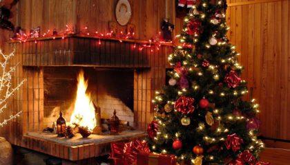 Un intérieur bien décoré pour Noël