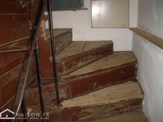 escalier abimé