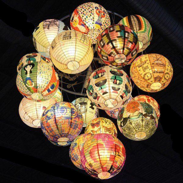 lampes boules japonaises