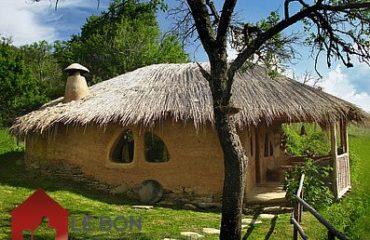 maison faite de paille