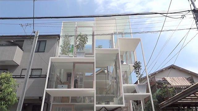 maison transparente tokyo