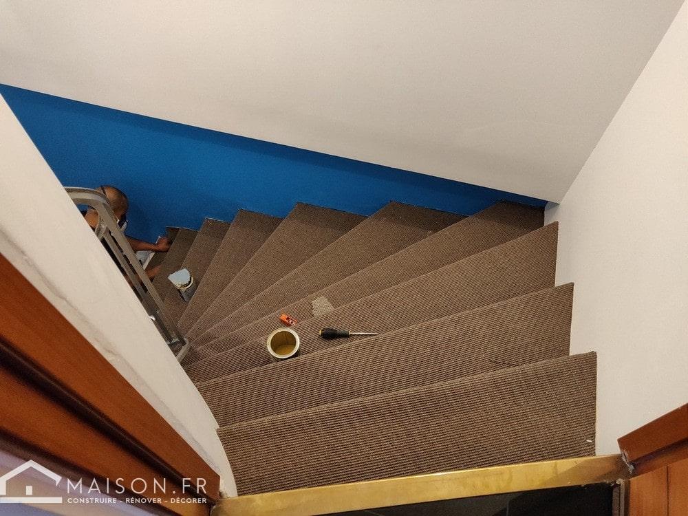 refaire un escalier en moquette 8