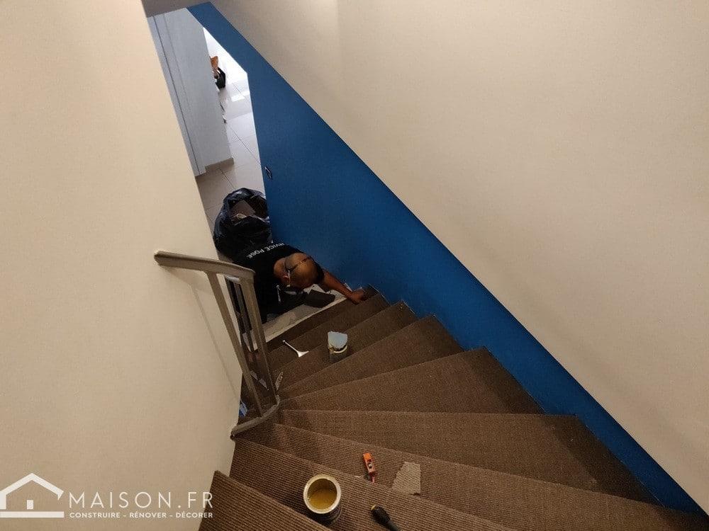 refaire un escalier en moquette 9