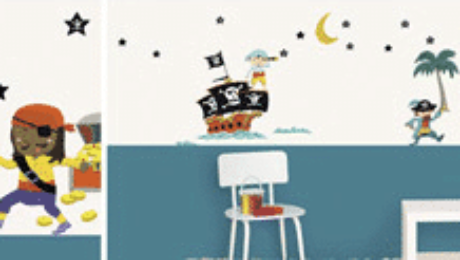 stickers muraux chambre enfant pirate