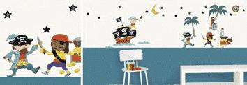stickers muraux chambre enfant pirate